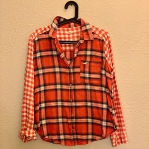 Orange Plaid Flannel
